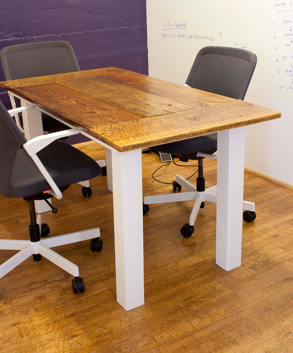 Small reclaimed conference room table