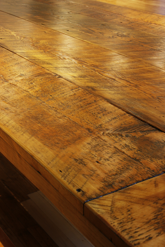 Beautiful reclaimed wood dining tables and benches bay for Reclaimed wood bay area ca
