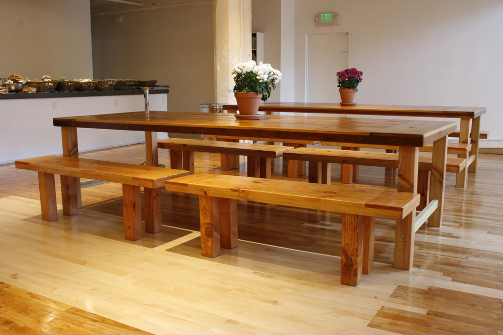 Table Made From Reclaimed Wood