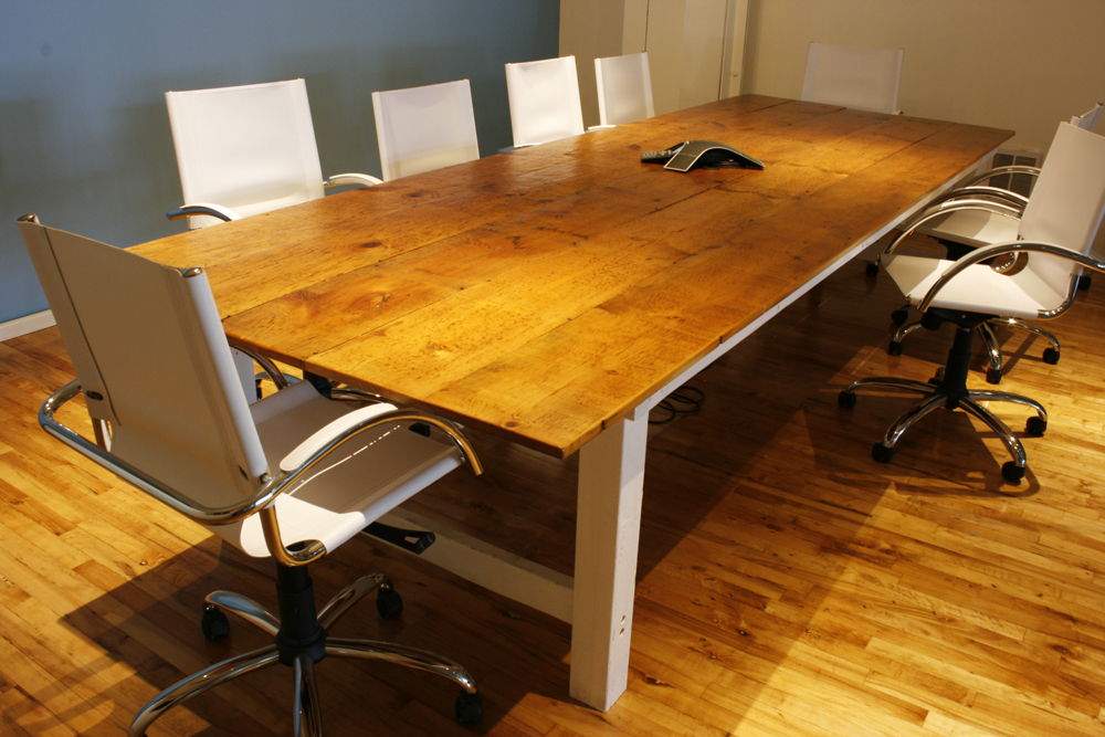 Reclaimed Wood Conference Room Table