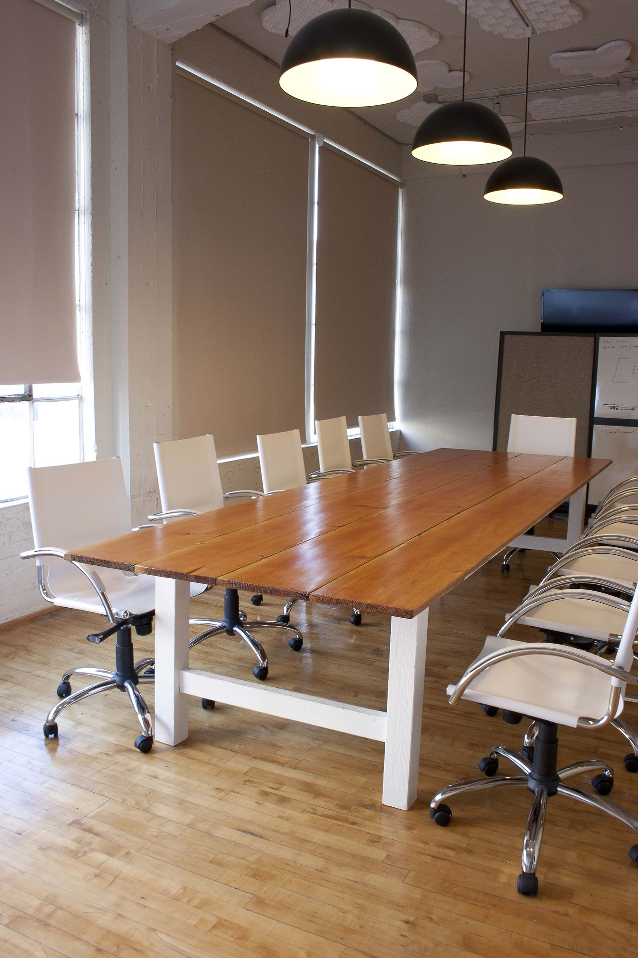Reclaimed fir conference table