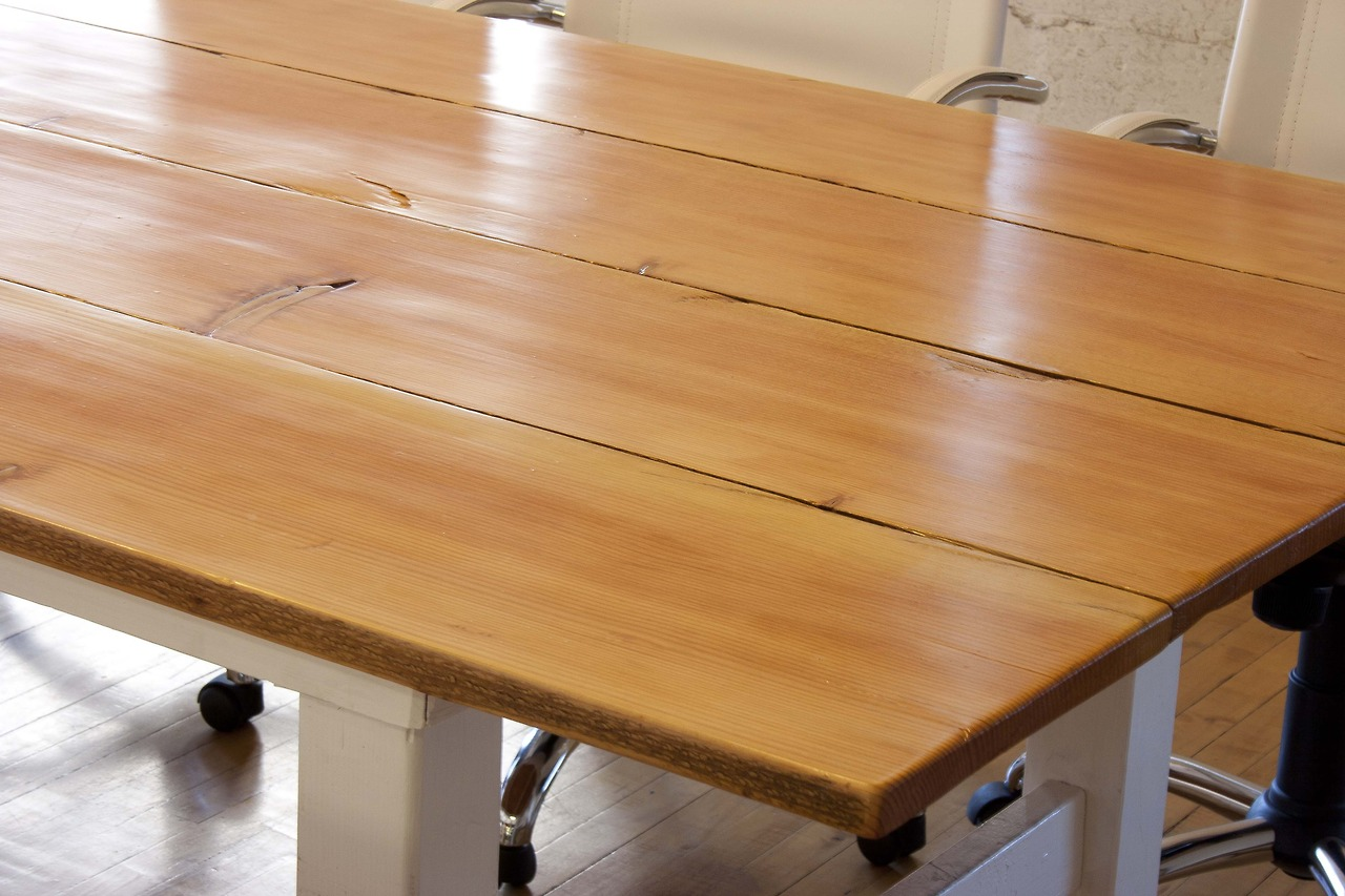 Twelve foot conference table, reclaimed fir