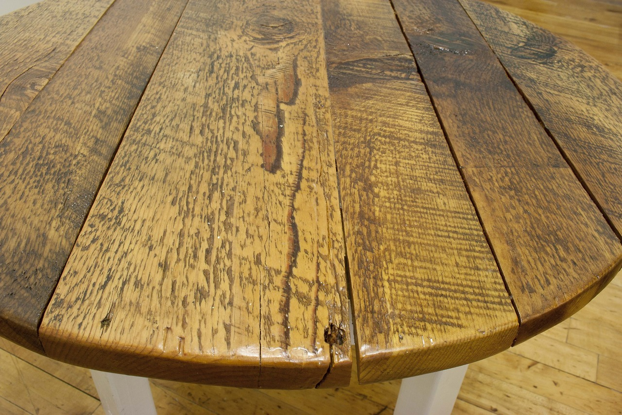 Salvaged Yellow Pine Coffee Tables Bay Area Custom Furniture