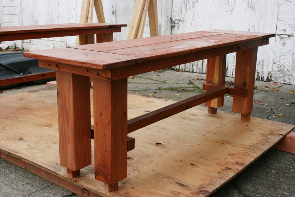 Redwood Dining Table Bench