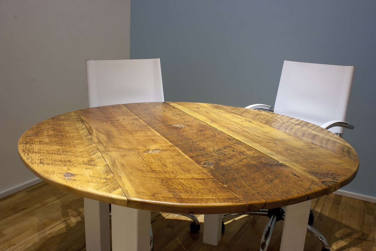 Round conference room table for San Francisco tech start-up