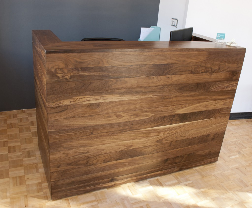 Custom Reception Desk Solid Walnut Reception Desk Bay