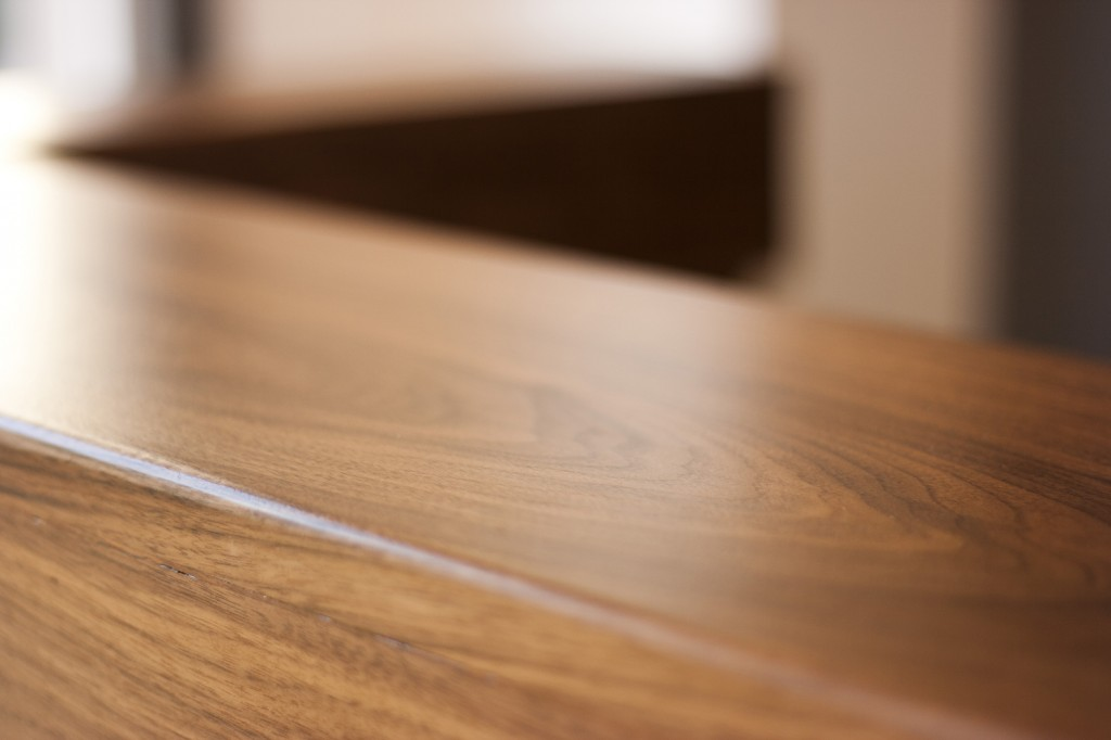 Walnut Reception Desk Detail