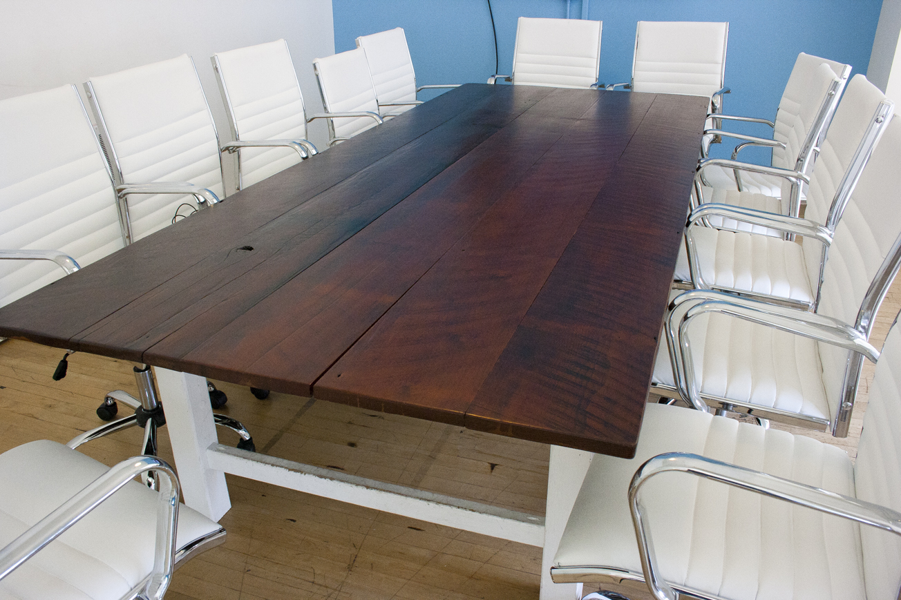 Genial Reclaimed Redwood Conference Table. This Table Is One From A Set Of 3  Conference Room Tables At The AdRoll Headquarters In San Francisco.