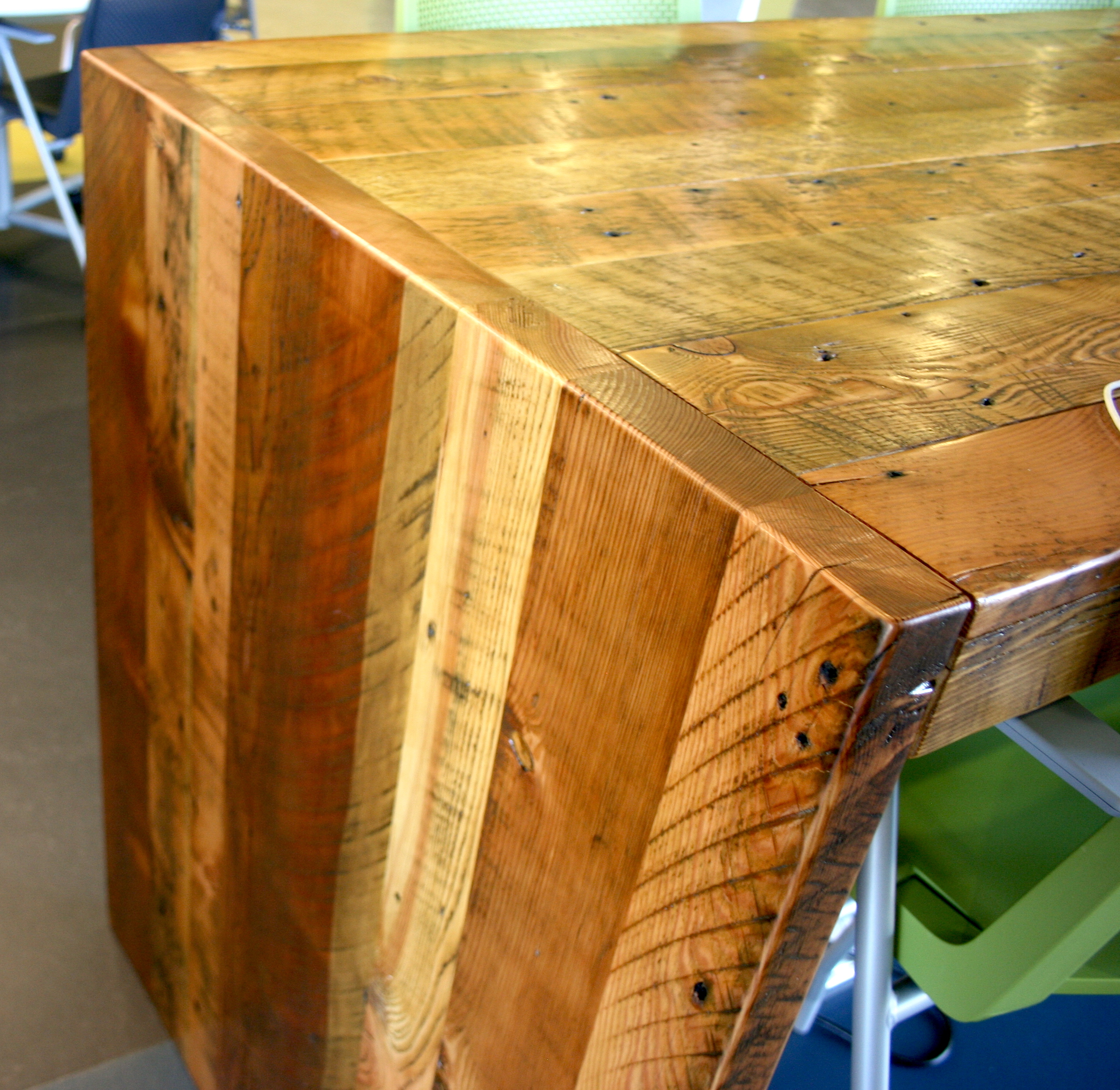 Reclaimed Breakroom Tables Bay Area Custom Furniture