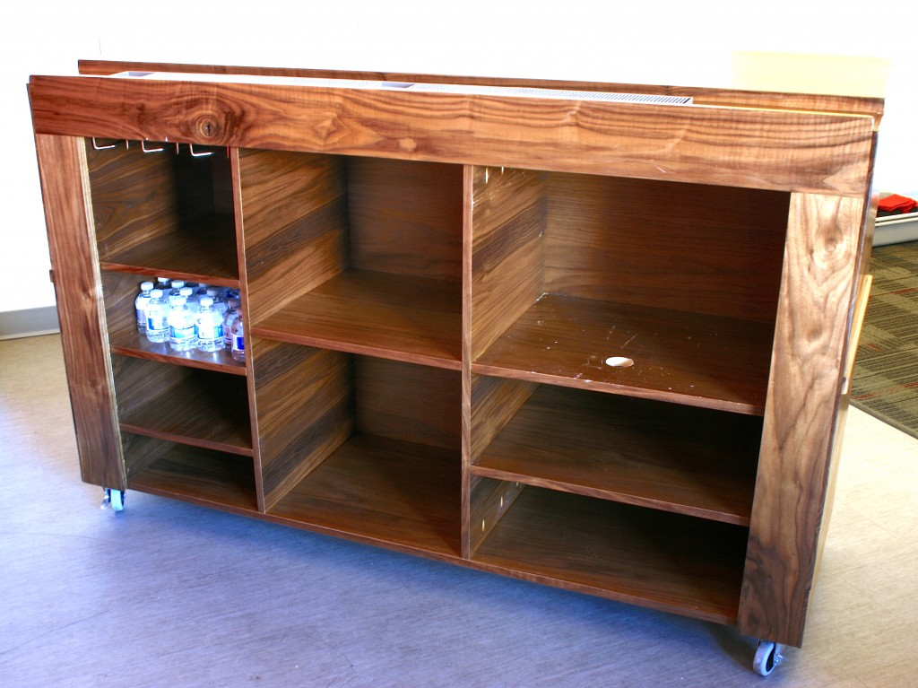 Mobile Bar Walnut
