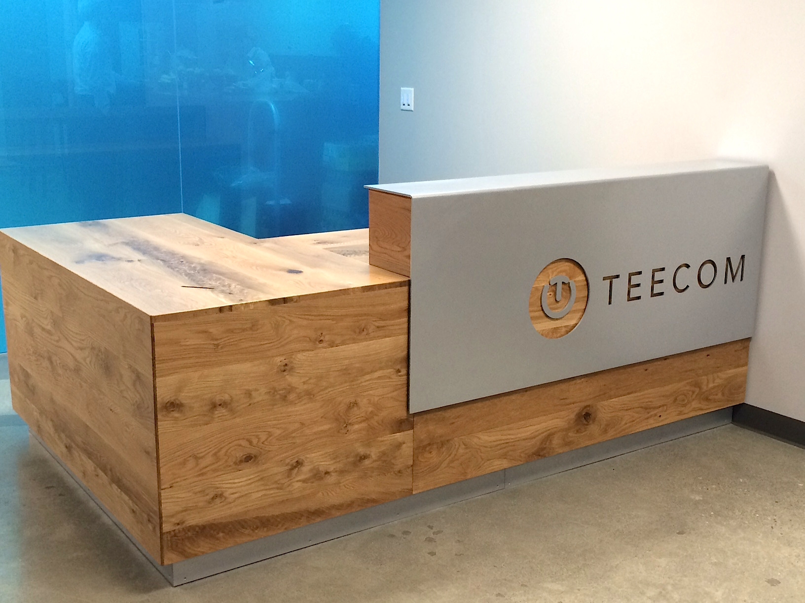 Reclaimed Wood U0026 Steel Reception Desk Custom Made