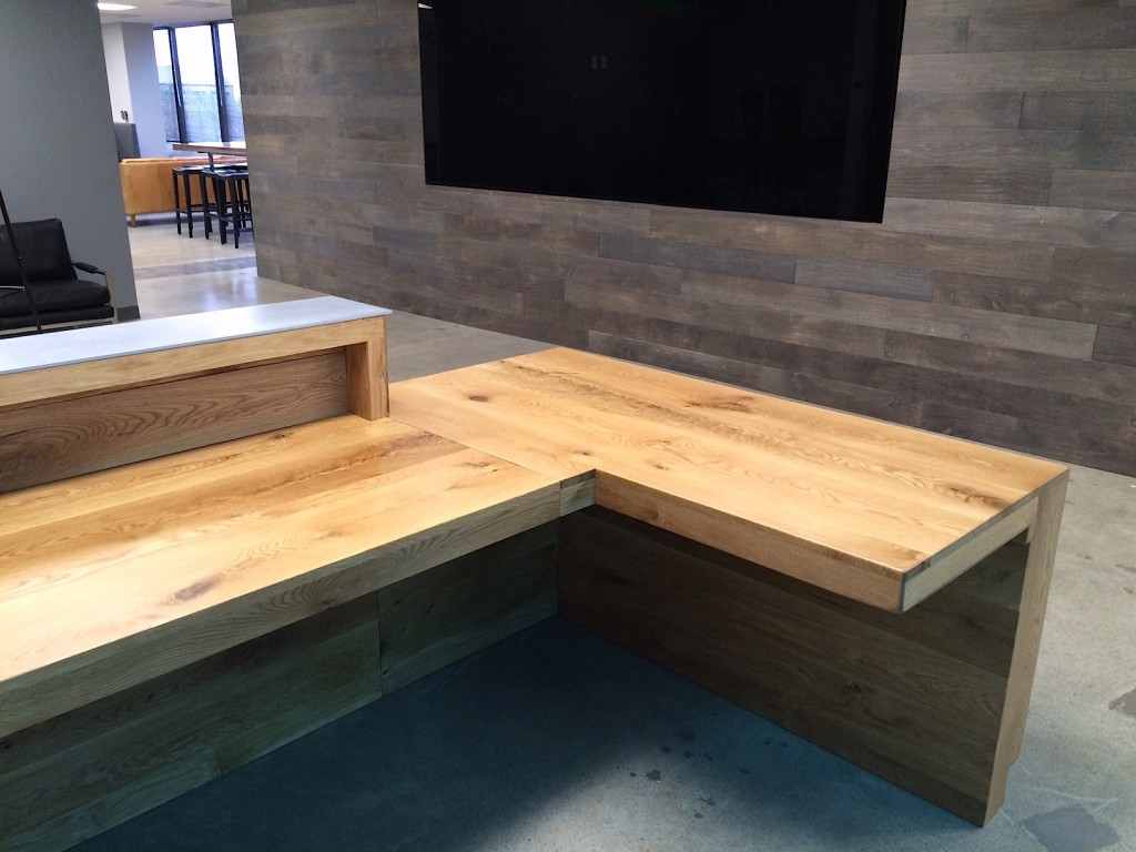 rustic oak reception desk bay area custom furniture