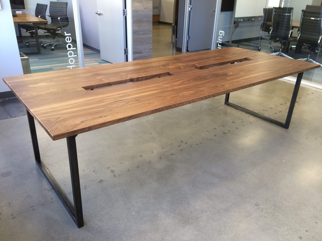 raw steel furniture. Solid Walnut Tables With Raw Steel Base Furniture